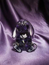 Fenton Hand Painted Purple Floppy Ear Rabbit Bunny Signed by Artist - $34.65