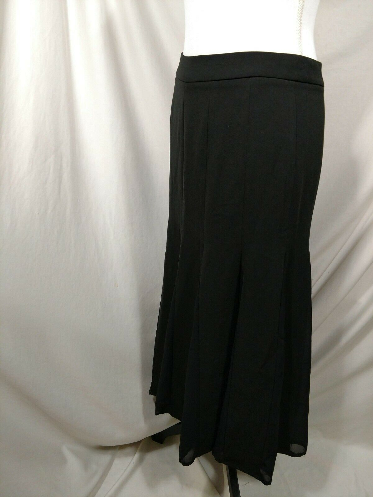 "STYLEWE Black Skirt Medium ""XL"" Flowy Fit & Flare SHANGMAN 6 8 Maxi Long Modest image 7"
