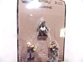 TOMBSTONE CORNERS HALLOWEEN VILLAGE 3 FIGURINES Hunchback Zombie Witchy ... - ₨242.60 INR