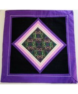 """Hmong Decorator Pillow Cover Machine Embroidery Bright Purple 16 3/8"""" X ... - $19.99"""