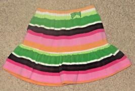 EUC Gymboree Cheery All the Way Striped Fleece Skirt Size 5 - $12.19
