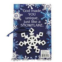 "FE-OTC Child's Christmas Ornament ""Christian Theme Story - Snowflake - $6.95"