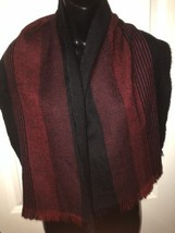 "Men's Hunting Horn Classics Neck Scarf/Wrap  Red & Black Plaid  50"" x 13"" - £7.06 GBP"