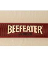 """Beer Tap Rubber Bar Spill Mat 21"""" x 3.5"""" Red Beefeater London  - $17.99"""