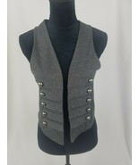 Love Culture women M gray military style vest - $17.82