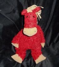 40.6cm Big Jellycat Bambino Rosso Bunglie Cavallo Pony Floscio Peluche Peluche - $33.39