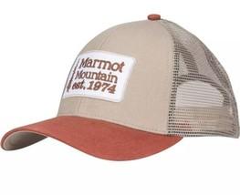 Marmot Retro Trucker Hat Cap #16410 Light Khaki One Size Adjustable Snap... - $19.57