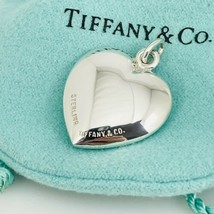 Tiffany & Co Vintage Sterling Silver Puffed Heart Pendant - $189.00