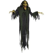 Animated Halloween Life Size Props Hanging Witch Haunted House Decor w S... - £41.91 GBP