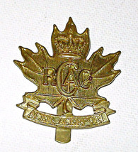 Royal Canadian Army Cadets Brass Cap Badge  Slider - $7.95