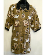 Arnold Palmer Mens Golf Shirt size Large 100% cotton Casual 2 button Polo  - $19.75