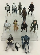 "Star Wars 4"" Action Figure Lot 12pc Kenner Hasbro Droids Chewbacca 1997 ... - $31.14"
