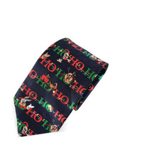 Looney Tunes Christmas Ho Ho Ho Bugs Taz Daffy Polyester Tie Necktie - $14.84