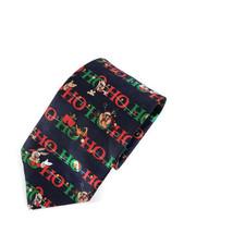 Looney Tunes Christmas Ho Ho Ho Bugs Taz Daffy Polyester Tie Necktie - $14.84