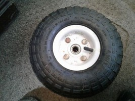 """Utility Wheels / Tires: 4.10/3.50-4 with 5/8"""" Bearings - 10"""" Pneumatic dirty"""
