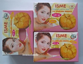3X50G. Isme Cl EAN Sing Facial Soap Aha, Pueraria Mirifica Lift Up Anti Wrinkle - $18.49