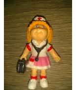 Vintage 1984 CABBAGE PATCH KIDS Mini PVC Blond NURSE w.STETHOSCOPE Bag &... - $11.85