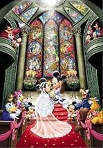 Tenyo Jigsaw Puzzle Disney Jigsaw Puzzle Mickey Mouse Wedding Japan 1000 Piece - $97.98
