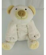 "9"" 2002 Ty Pluffies Polar Teddy Bear Plush Cloud White & Yellow Beanbag ... - $19.79"