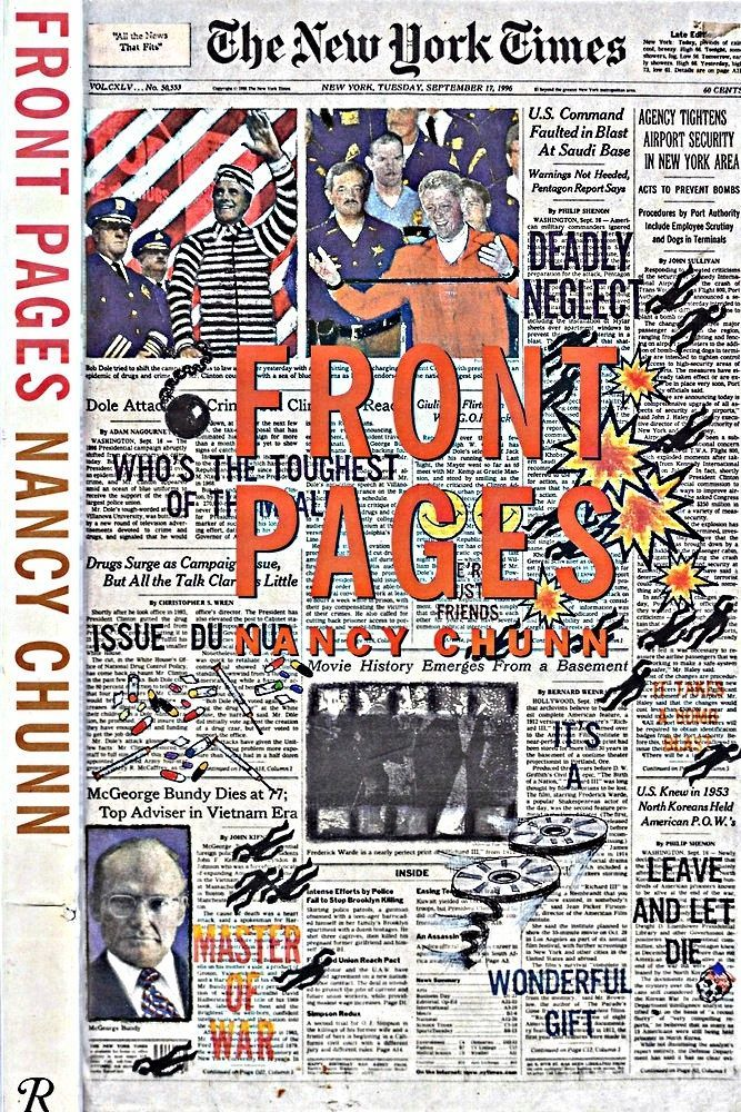 FRONT PAGES by ARTIST NANCY CHUNN NEW YORK TIMES LARGE BOOK 1997