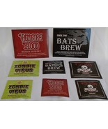 Halloween Bottle Labels Stickers 8 NIP 4 Sml 2 Med 2 Lge Beer Wine Soda ... - $7.99