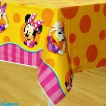 Minnie & Daisy Polka Dot Striped Yellow Table Cover Birthday Decor Party... - $5.89