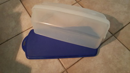 Tupperware Blue Taker Container  - $32.88