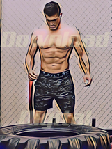 Digital download Academy strong muscular man Workout tire Painting Water... - $5.80
