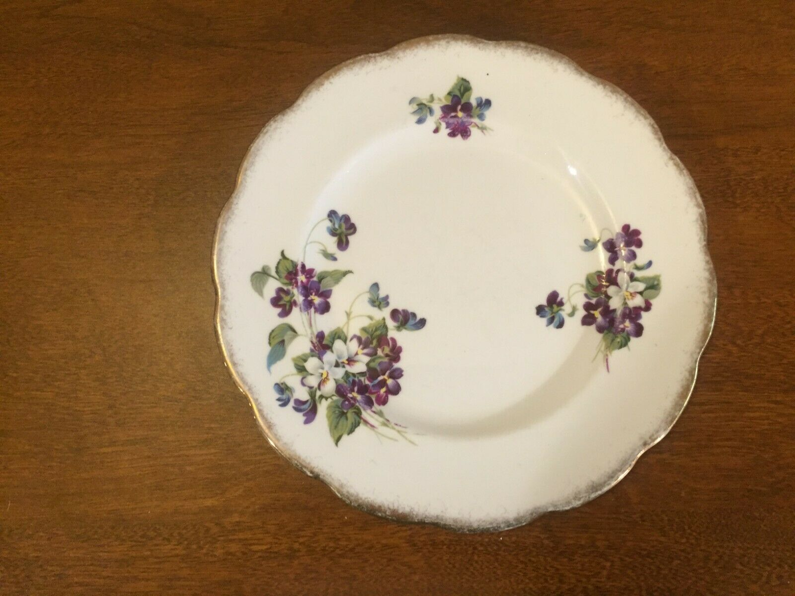 Violets for Love Royal Albert Bone China England Plate 7 1/2""