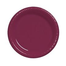 "Burgundy 7"" Plastic Desert Plates 20 Per Pack Creative Converting - $7.42"