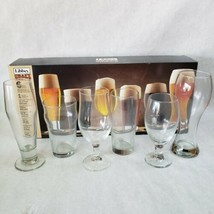 Libbey Craft Brew Sampler Clear Beer Glass Set, 6-Piece - New In Box - $19.79