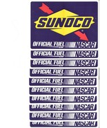 10 Sunoco official fuel of NASCAR stickers 6 1/2 by 4 3/4 inches tall - $15.83