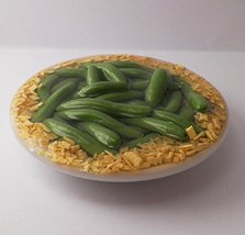 Green Bean Casserole Dinner Side on a Dish Perfect for 18 Inch American Girl Dol - $9.99