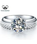 Fashionable 3 55 ct sona synthetic diamond font b engagement b font font b ring b thumbtall