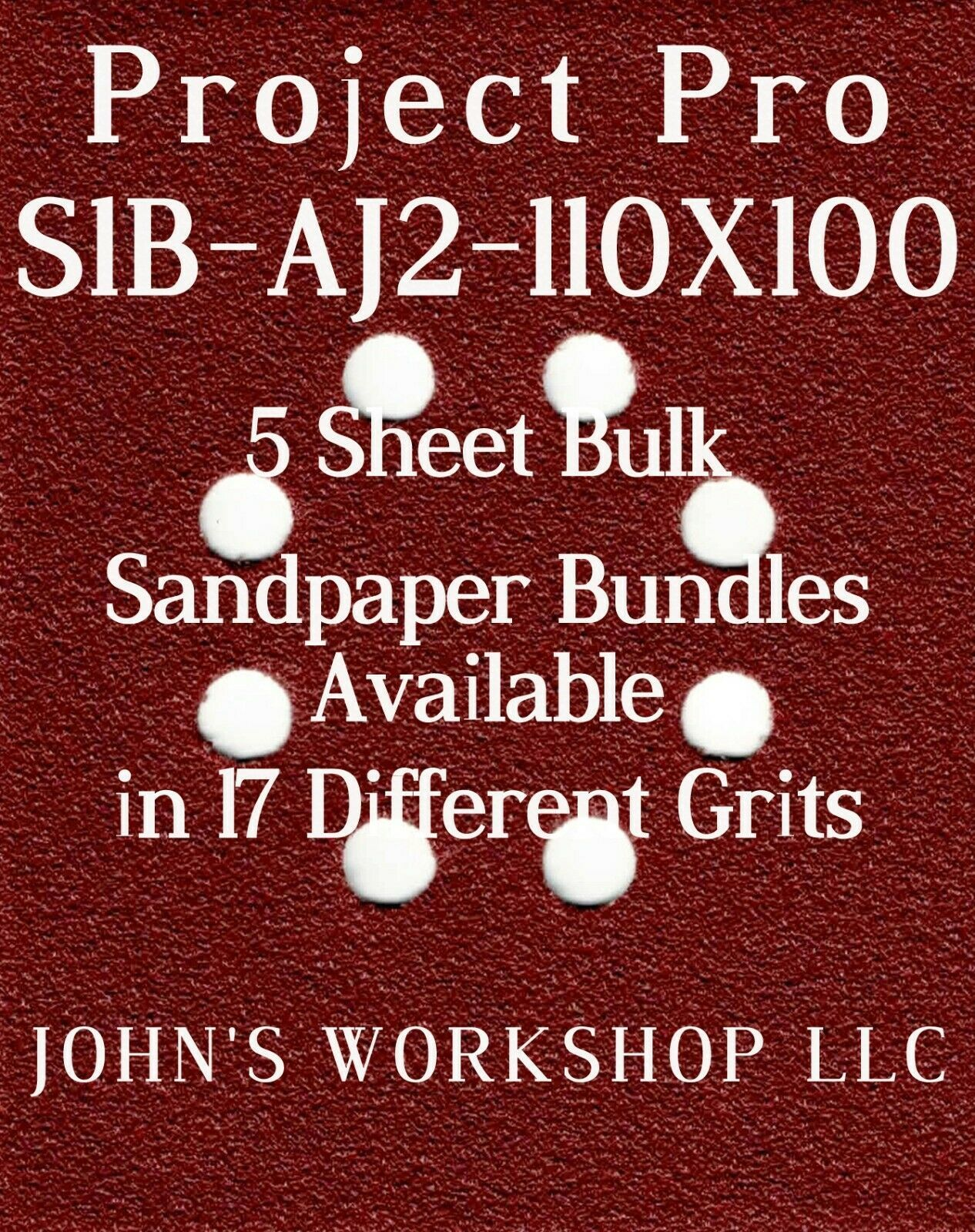 Primary image for Project Pro S1B-AJ2-110X100 - 1/4 Sheet - 17 Grit - No-Slip - 5 Sandpaper Bulk