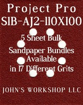 Project Pro S1B-AJ2-110X100 - 1/4 Sheet - 17 Grit - No-Slip - 5 Sandpape... - $7.14