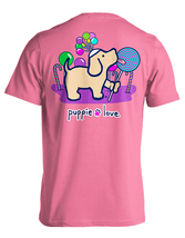 Puppie Love Rescue Dog Adult Unisex Short Sleeve Cotton Tee,Lollipop Pup