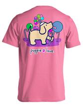 Puppie Love Rescue Dog Adult Unisex Short Sleeve Cotton Tee,Lollipop Pup image 1