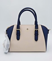 NWT Kate Spade New York Cove Street Pippa Navy Cream Leather Satchel Bag... - $248.00