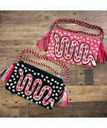 EXCLUSIVE SNAKE CLUTCH CROSSBODY WAYUU  BAG - pick one BLACK OR PINK - $50.00
