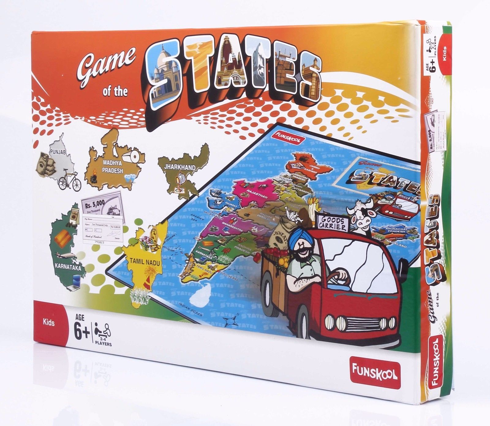 Funskool Game of The States Educational Games Players 2-4 Age 6+ image 5