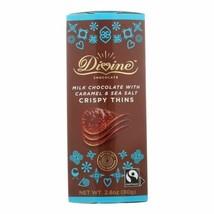 Divine - Crisp Thns Milk Chocolate Caramel - Case Of 12 - 2.8 Oz - $59.97