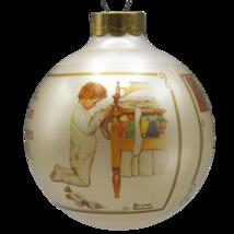 Norman Rockwell Christmas Ornament Glass Ball 1988 Boy Praying Hallmark Keepsake - $15.06