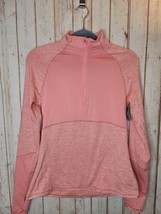 DSG Women's Heather Pink Long sleeve Athletic Pullover Brushed Fabric Fi... - $18.81
