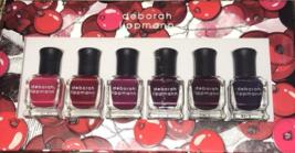 Deborah Lippmann Very Berry Shades Of Berry .27 Oz 6 Bottles New In Box - $24.74