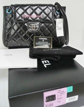 Chanel Jumbo Black Calfskin Accordion Classic Flap Bag New - $3,998.00