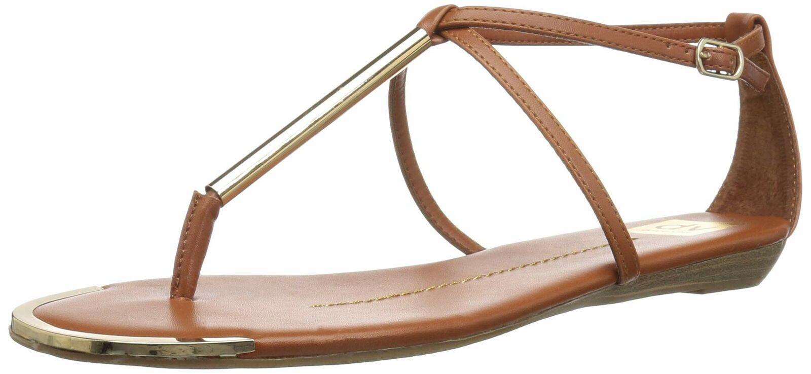 DV by Dolce Vita Women's Archer Thong Sandal 11 Cognac Stella