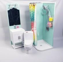 "My Life As Bathroom Play Set Shower & Light-up Vanity & Toilet 18"" Doll ... - $49.00"