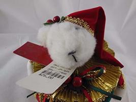 Home for the Holidays Vintage Christmas Plush Music Box w Bear That Move... - $24.74