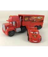 Disney Pixar Cars Mack Truck Hauler Shake N Go Lightning McQueen Car 2007 Mattel - $54.40